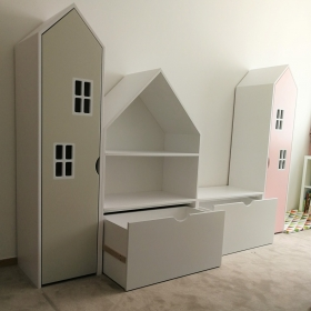 Originální domečky jako skříňky pro malé děti