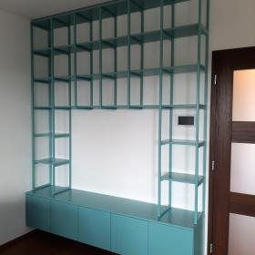 Obývací sestava s knihovnou